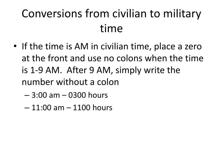 writing military time