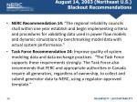 august 14 2003 northeast u s blackout recommendations
