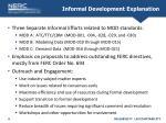 informal development explanation