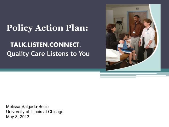 Policy Action Plan: