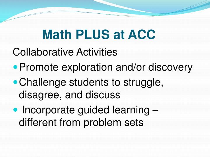 Math PLUS at
