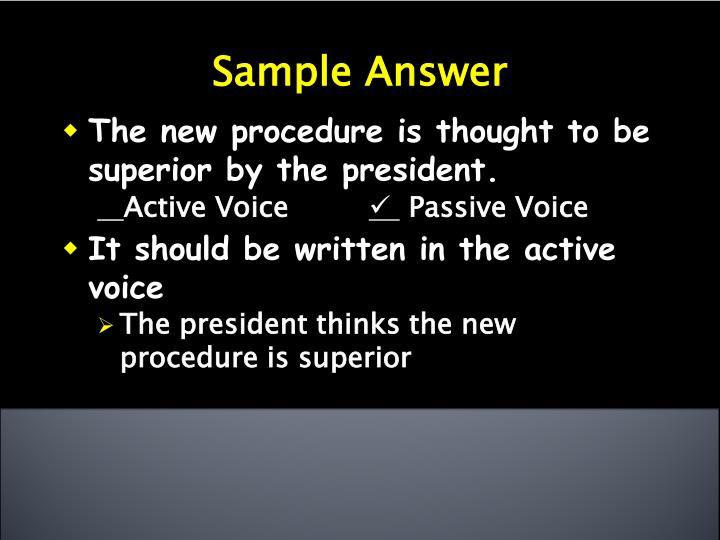 Sample Answer