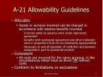 a 21 allowability guidelines1