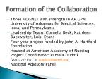 formation of the collaboration