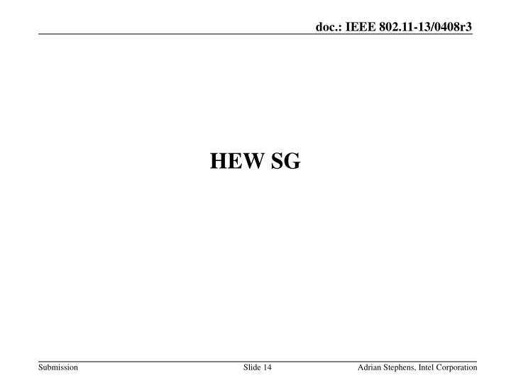 HEW SG