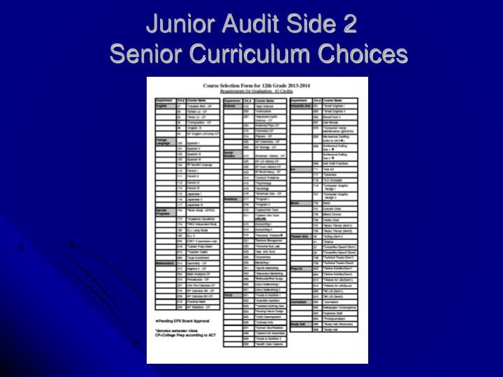 Junior Audit Side 2