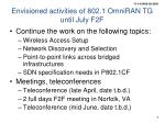 envisioned activities of 802 1 omniran tg until july f2f
