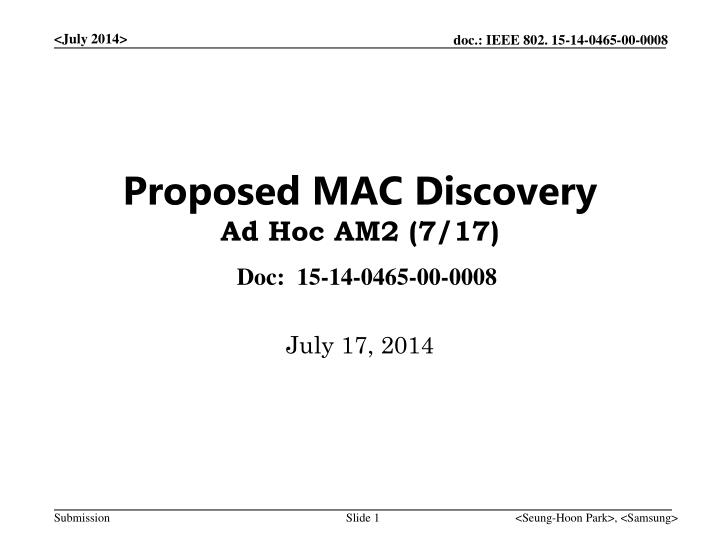 proposed mac discovery ad hoc am2 7 17 n.