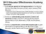 2013 educator effectiveness academy1