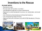 inventions to the rescue1