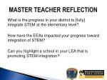 master teacher reflection