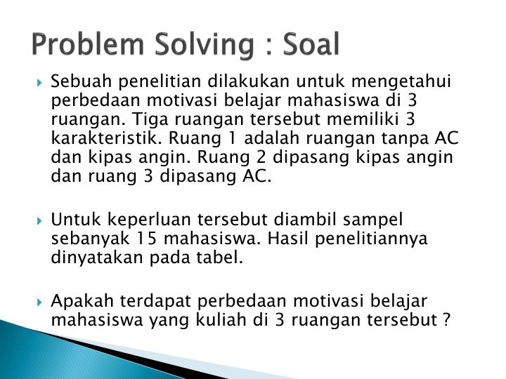 Problem Solving :