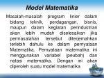 model matematika