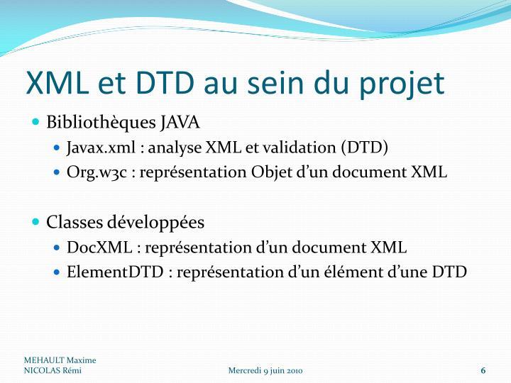 XML et DTD au