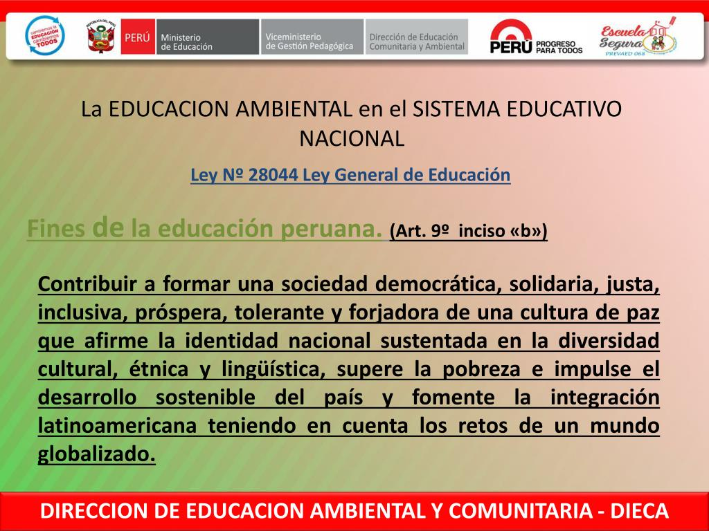 Ppt Direccion De Educacion Comunitaria Y Ambiental Powerpoint Presentation Id 3187244