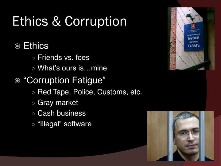 Ethics corruption