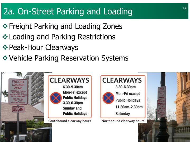 2a. On-Street Parking and Loading