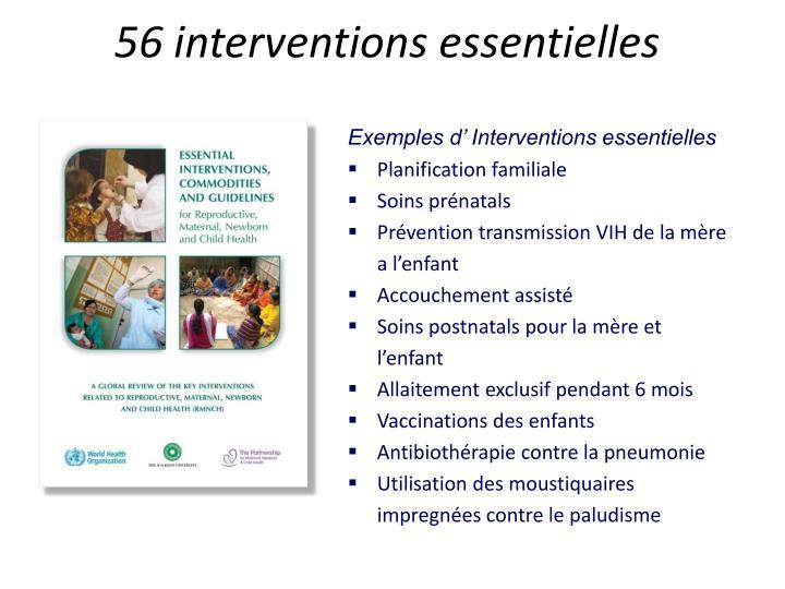 56 interventions essentielles