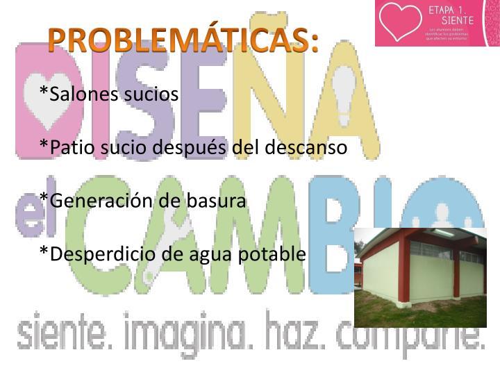 PROBLEMÁTICAS: