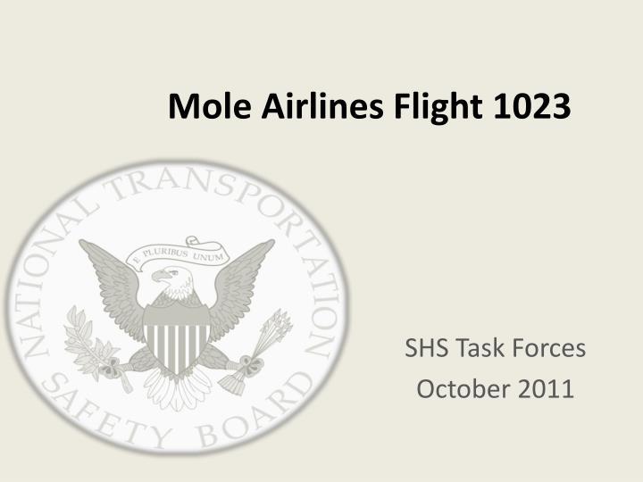 Mole airlines flight 1023