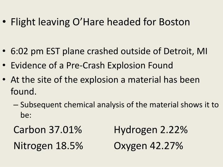 Flight leaving O'Hare headed for Boston