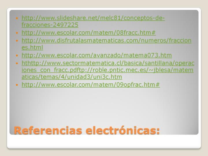 Referencias electrónicas: