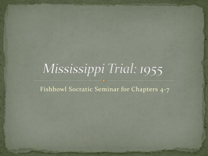 mississippi trial 1955 n.