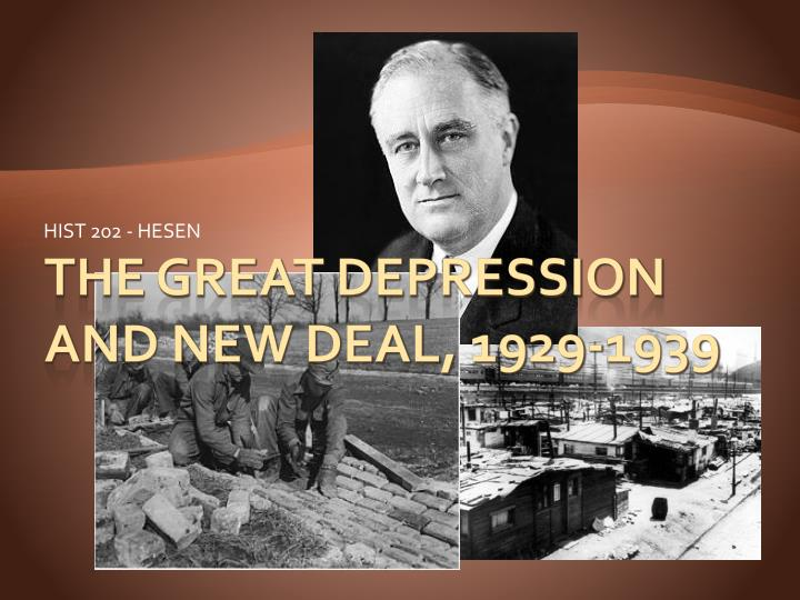 the new deal great depression essay