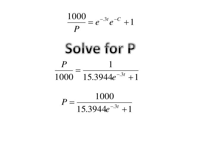 Solve for P