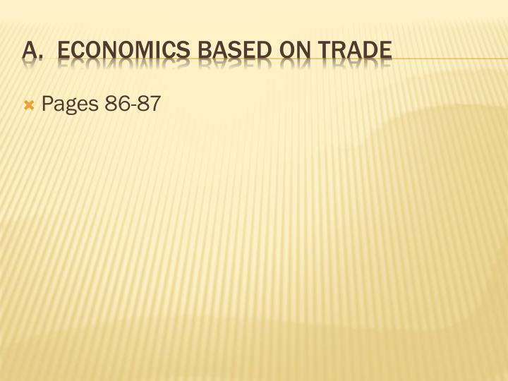 A economics based on trade