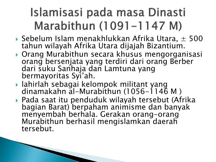 Islamisasi pada masa Dinasti Marabithun (1091-1147