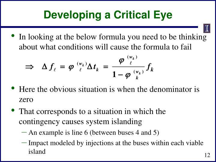 Developing a Critical Eye