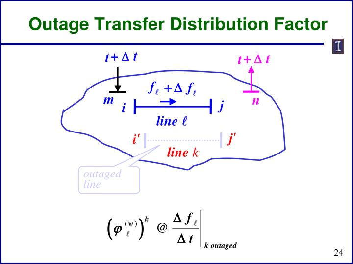 Outage Transfer Distribution Factor