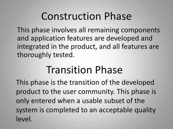 Construction Phase