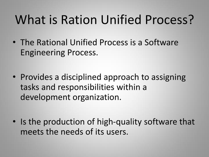 What is ration unified process