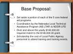base proposal