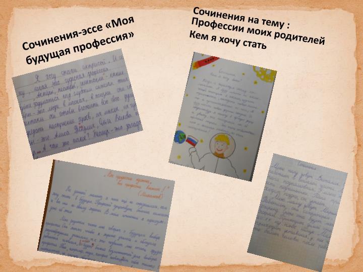 Сочинения-эссе «Моя будущая профессия»