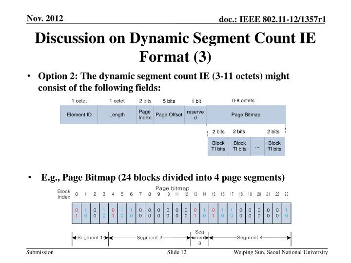 Discussion on Dynamic Segment Count IE Format (3)