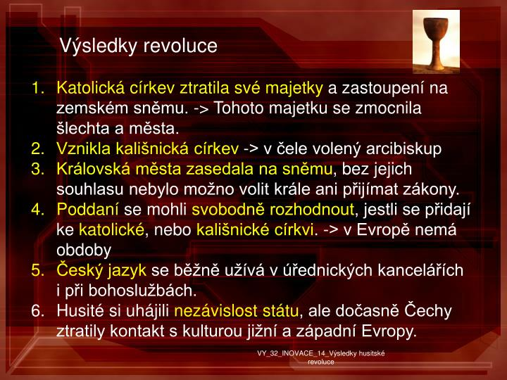 Výsledky revoluce