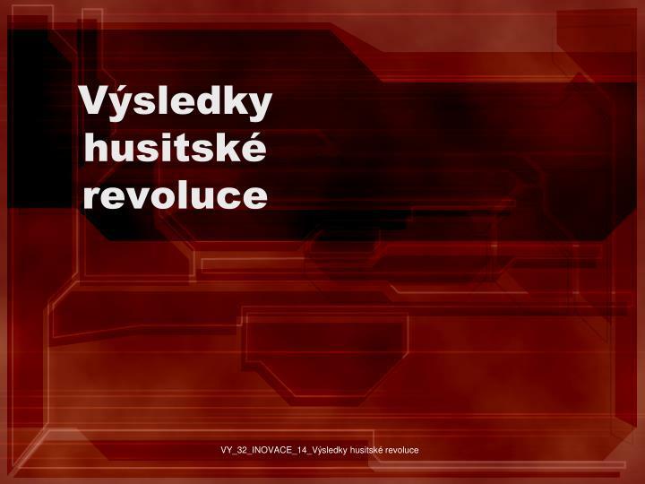 V sledky husitsk revoluce