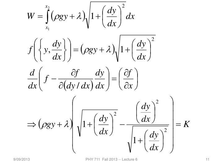 PHY 711  Fall 2013 -- Lecture 6