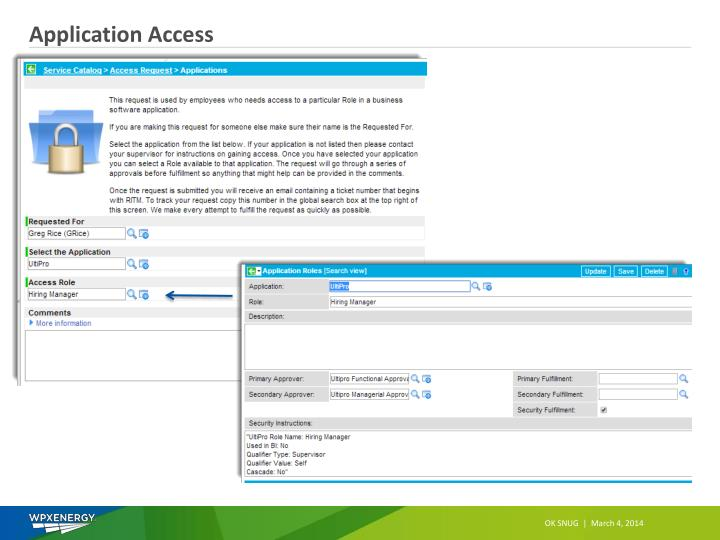 Application Access