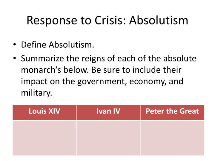the government during the age of absolutism Unit one: the age of absolutism  2 unit 1: absolutism (topic 12 lesson 1,2 and 3)  what were some of liselotte's activities during a normal day at court 2  is absolutism effective as a type of government explain your answer by citing examples (using facts to support your opinion) author.