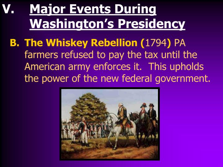 the role of president george washington in the whiskey rebellion of 1794