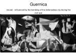guernica mural influenced by the bombing of the defenseless city during the civil war