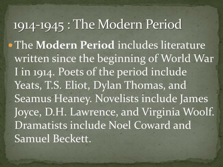 contemporary period 1939 to present Click here for the progressive period of american education (ca 1880-1920) click here for the modern period of american education (ca 1920-present) click here for other history of education links.