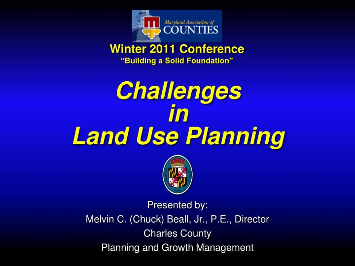 challenges in land use planning n.