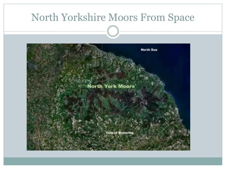 North Yorkshire Moors From Space