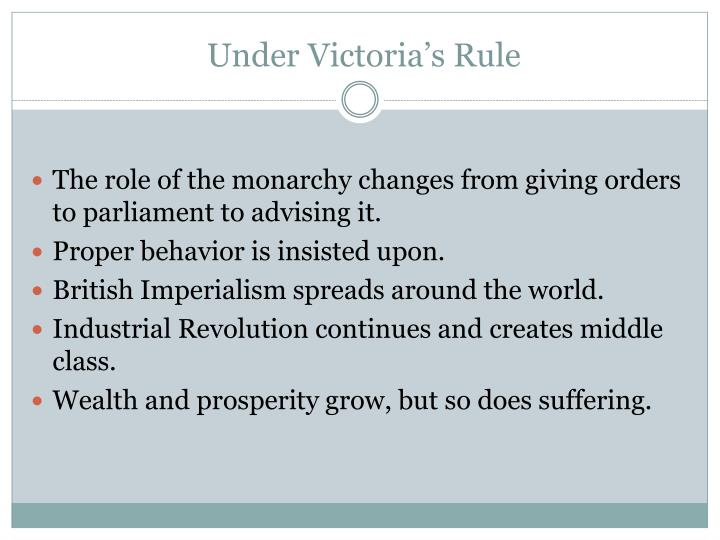 Under Victoria's Rule