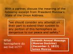 seventh annual message monroe doctrine december 2 1823 james monroe